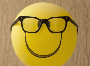 Canva - Nerdy, Geeky, Geek, Nerd, Balloon, Smiley, Silly